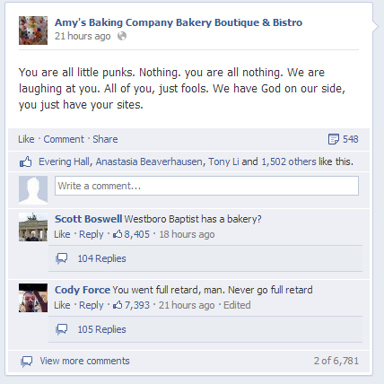 Amys Baking Company Social Media Backlash
