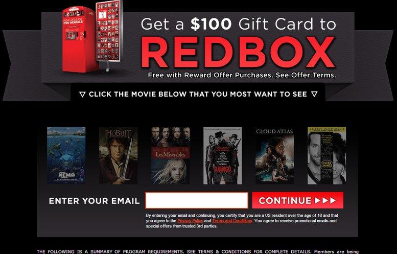 Redbox CPA Offer