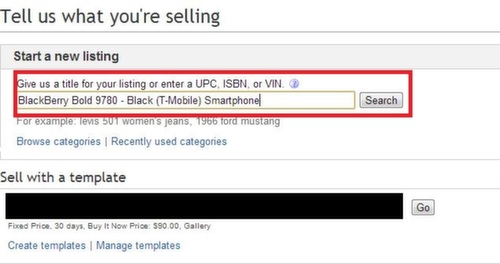 how to create an ebay listing
