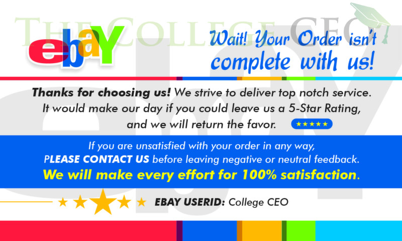 EBAY Seller Thank You Feedback Cards Template FREE DOWNLOAD The - Free ebay template maker