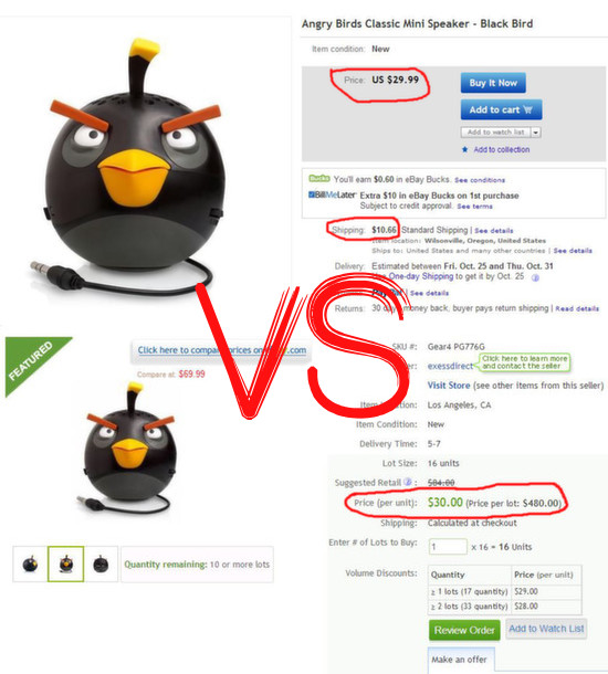 ebay wholesale deals price
