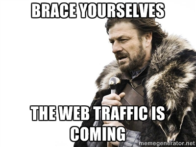 web traffic meme